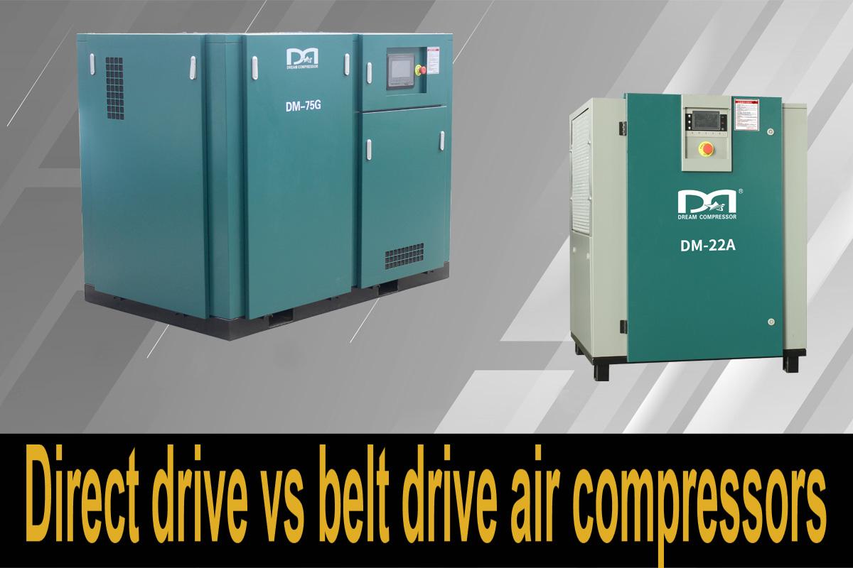 Compresores de aire de transmisión directa frente a transmisión por correa