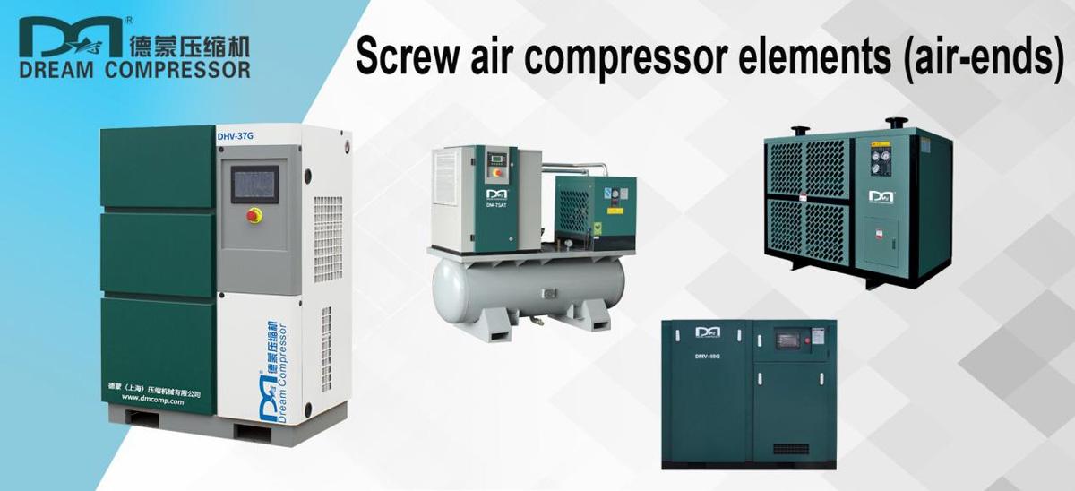 Elementos del compresor de aire de tornillo (aire- termina)