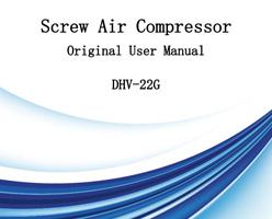 Compresor de aire de tornillo Manual de usuario original DHV-22G