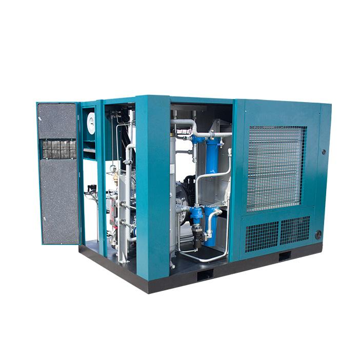 Compresor de aire de tornillo de velocidad variable magnético permanente de presión media