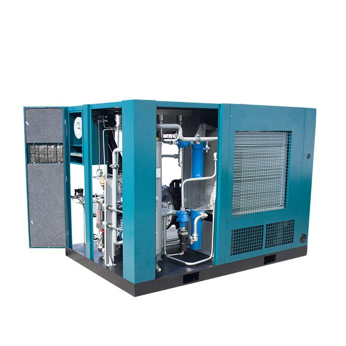 Compresor de aire de tornillo de velocidad fija de presión media