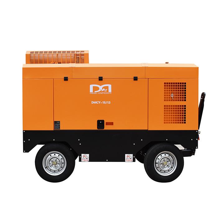 Compresor de aire de tornillo portátil diésel (8-35 bar)