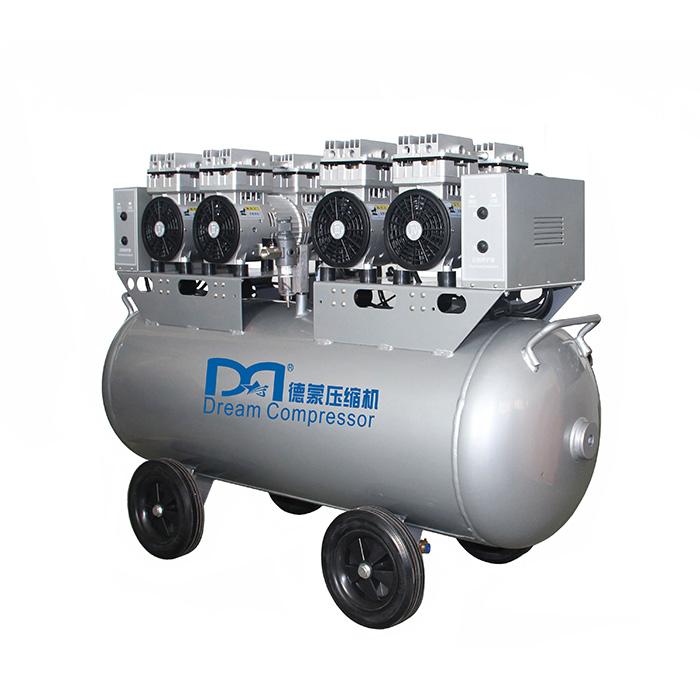 Compresor de aire de pistón sin aceite