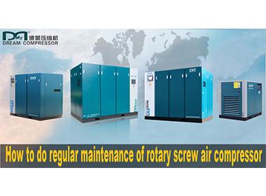 Cómo realizar el mantenimiento regular del compresor de aire de tornillo rotativo