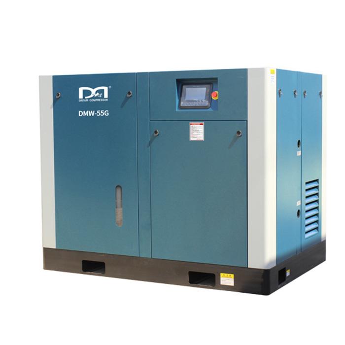 Compresor de aire de tornillo de velocidad fija lubricado con agua sin aceite